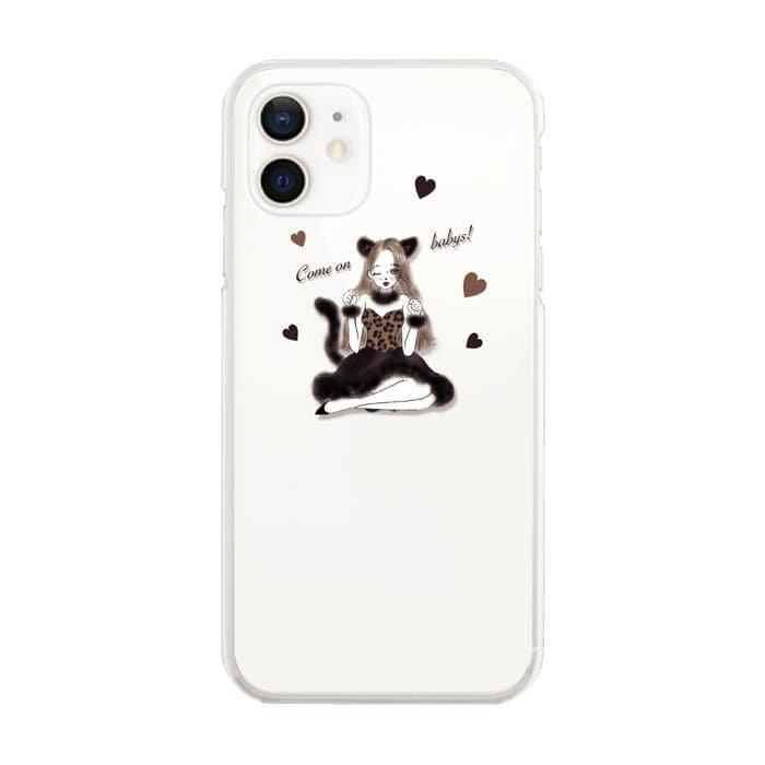 スマホケース<br>LEOPARD GIRL<br>iPhone13対応<br>〈クリア〉