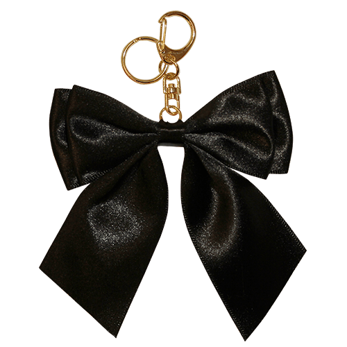 SATIN RIBBON CHARM BLACK<br>スマホチャーム
