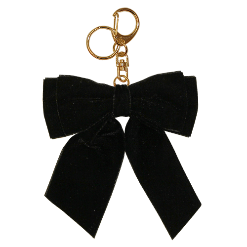 VELOUR RIBBON CHARM BLACK<br>スマホチャーム