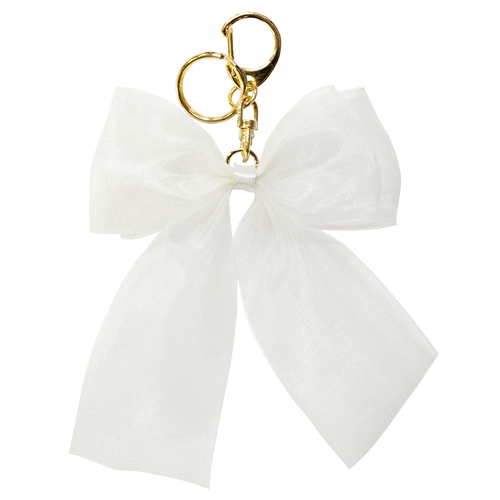 ORGANDY RIBBON CHARM WHITE<br>スマホチャーム