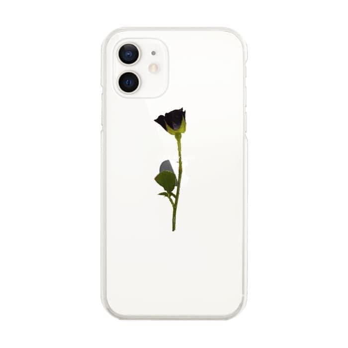 スマホケース<br>WATER BLACK ROSE<br>iPhone13対応<br>〈クリア〉