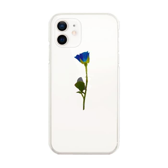 スマホケース<br>WATER BLUE ROSE<br>iPhone13対応<br>〈クリア〉