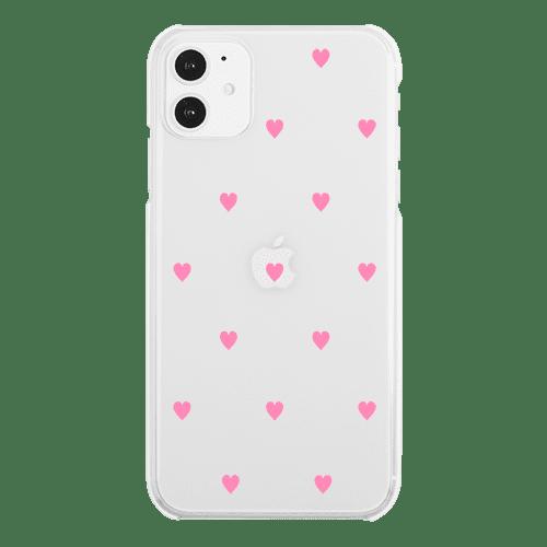 スマホケース<br>SWEET PINK HEART<br>iPhone13対応<br>〈クリア〉