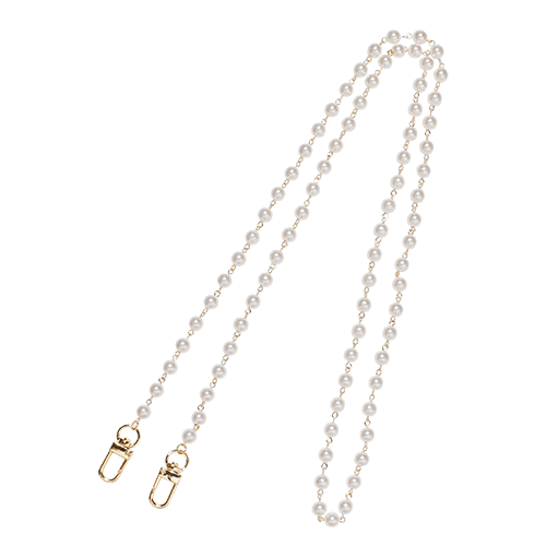 LONG PEARL CHAIN<br>STRAP GOLD