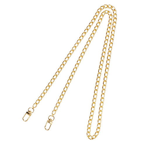 LONG WIDE CHAIN<br>STRAP GOLD