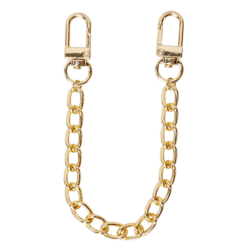 SHORT WIDE CHAIN<br>STRAP GOLD
