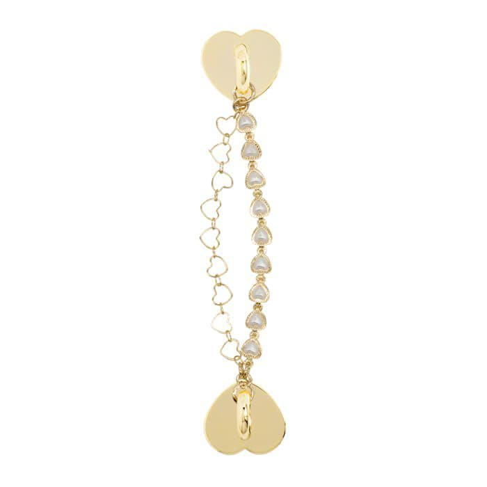 TWIN HEART  PEARL CHAIN CHARM〈Sチャーム〉
