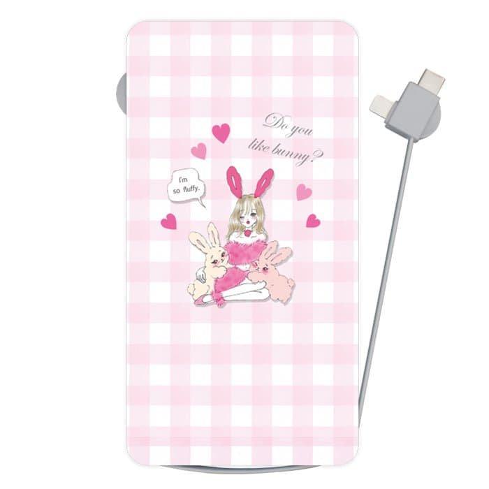 BUNNY&GIRL<br>〈Qi対応モバイルバッテリー〉