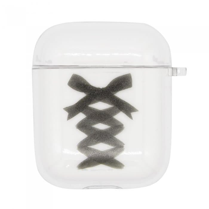 LACE UP BLACK RIBBON<br>〈クリアAirPods〉<img class='new_mark_img2' src='https://img.shop-pro.jp/img/new/icons5.gif' style='border:none;display:inline;margin:0px;padding:0px;width:auto;' />