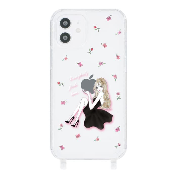 iPhoneケース<br>LAVENDER BLACK GIRL<br>〈ストラップなし〉