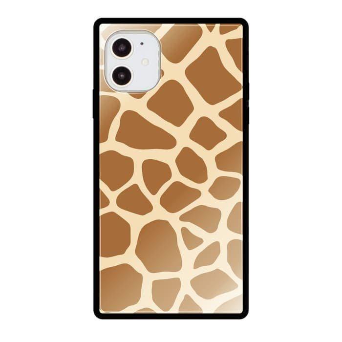 iPhoneケース<br>GIRAFFE<br>iPhone13対応<br>〈スクエアガラス〉