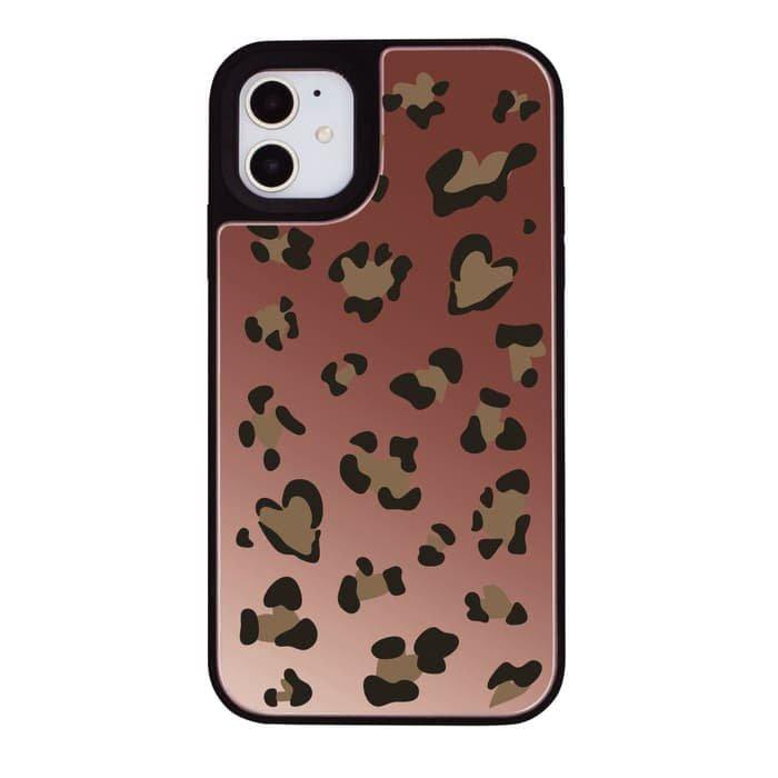 iPhoneケース<br>LEOPARD<br>〈ミラーバンパーPK〉
