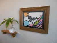 切り絵でアートカード(B5)イルカ