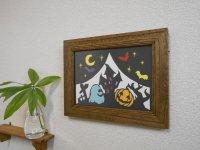 切り絵でアートカード(B5)ハロウィン