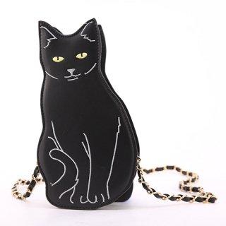 お座りモチーフ黒猫さんショルダーバッグ