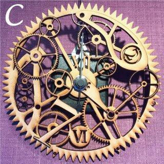 歯車の壁掛け時計C