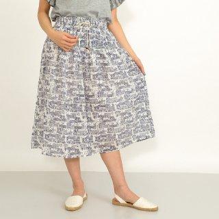 ふんわりコットンホームタウンプリントスカート