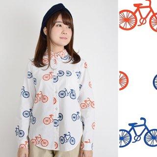 カラフル☆自転車柄ブラウス