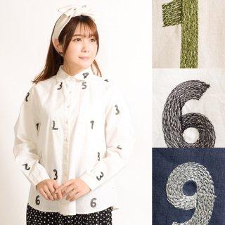 ナンバー刺繍★ライトシャツ
