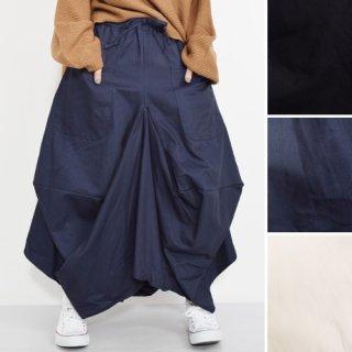 前ポケット付★変形ロングスカート