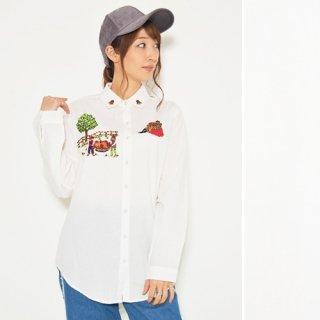 フルーツファーム刺繍★長袖シャツ/ブラウス