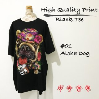 High Quality Print Black Tee #01