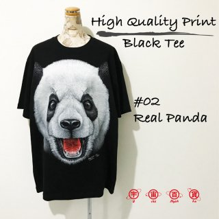 High Quality Print Black Tee #02