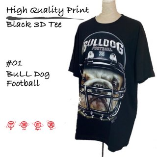 High Quality Print Black 3D Tee #01