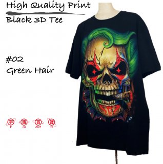 High Quality Print Black 3D Tee #02
