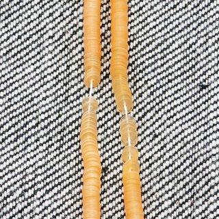 パールソフトオレンジ  1本(1000枚)・フランス製・糸通し・平丸・3mm