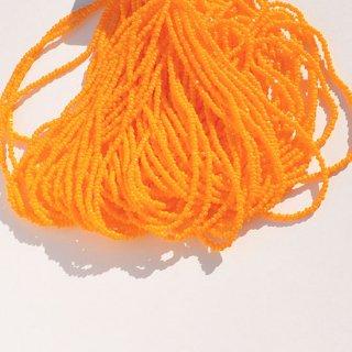 《1cut》オパックライトオレンジ  糸通し・シャルロット・13/0・チェコ製