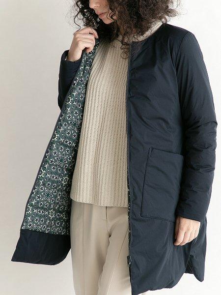 Reversible No Collar Coat/リバーシブルノーカラーコート