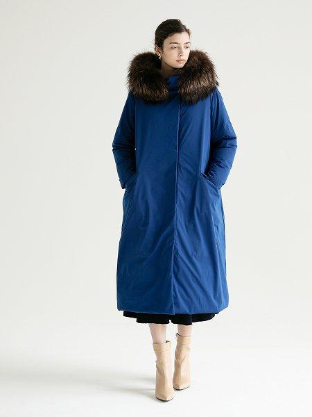 Fur Hood Long Coat/ファーフードロングコート
