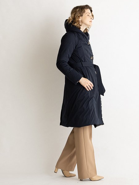 2way Collar Long Coat/2WAYカラーロングコート