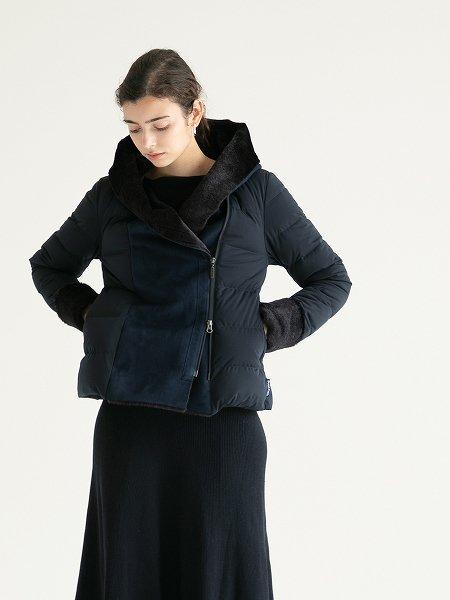 Fake Mouton Hood Jacket/フェイクムートンフードジャケット