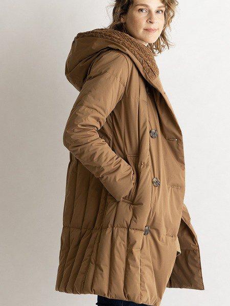 Knit Hood Coat/ニットフードコート