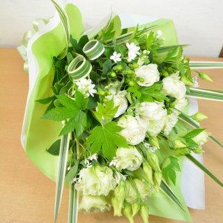 生花 店長おまかせボリューム花束 ホワイトグリーン系