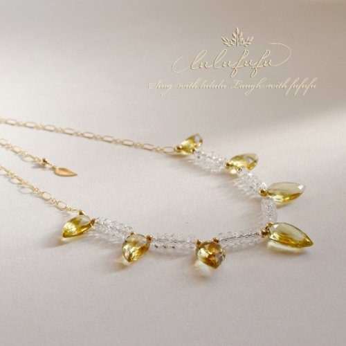 lulufufu bijoux〜ハニー&クリスタルクォーツネックレス<img class='new_mark_img2' src='https://img.shop-pro.jp/img/new/icons47.gif' style='border:none;display:inline;margin:0px;padding:0px;width:auto;' />