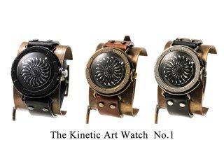 キネティックアートウォッチNo.1 【20mmベルト】手作り腕時計/手巻き&自動機械式時計