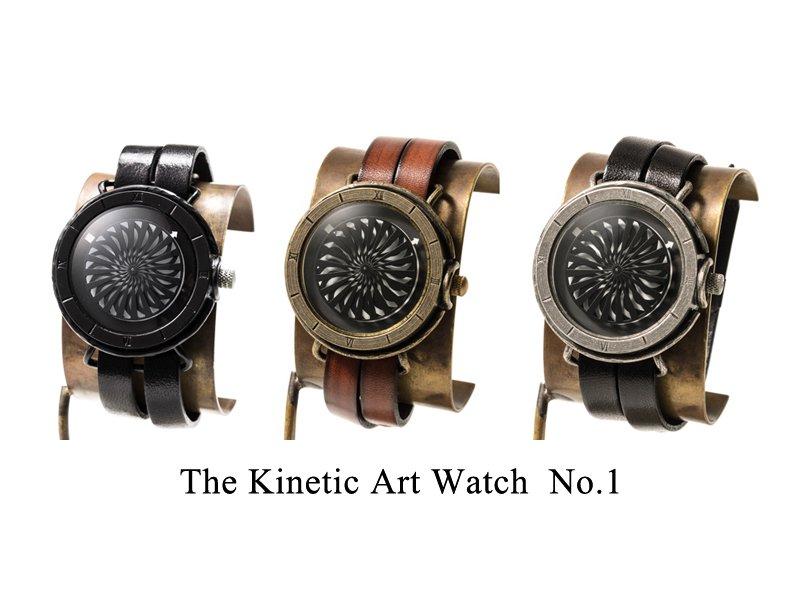 キネティックアートウォッチNo.1 【9mm2連ベルト】手作り腕時計/手巻き&自動機械式時計