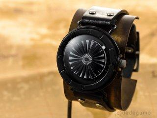 キネティックアートウォッチNo.2 【20mmベルト/ブラック】手作り腕時計/手巻き&自動機械式時計