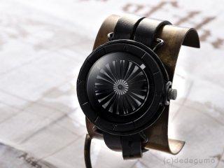 キネティックアートウォッチNo.2 【9mm2連ベルト】手作り腕時計/手巻き&自動機械式時計