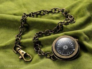 キネティックアートウォッチNo.2 【懐中時計】手作り腕時計/手巻き&自動機械式時計