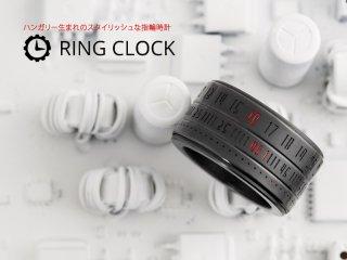 リングクロック/Ring Clock ブラック/LED(レッド)