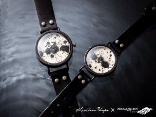 墨花【ぼっか】 男形A131  柏原晋平×デデグモウォッチシリーズ 手作り腕時計/クオーツ時計