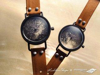 墨染【ぼくせん】 男形B601  柏原晋平×デデグモウォッチシリーズ 手作り腕時計/クオーツ時計