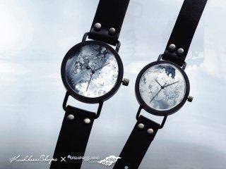 花曇【はなぐも】 男形C401  柏原晋平×デデグモウォッチシリーズ 手作り腕時計/クオーツ時計