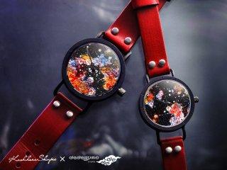 火飴【ひあめ】 女形D802  柏原晋平×デデグモウォッチシリーズ 手作り腕時計/クオーツ時計