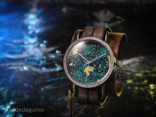水界【Suikai】 S20  金彩上田×デデグモウォッチシリーズ 手作り腕時計/クオーツ時計