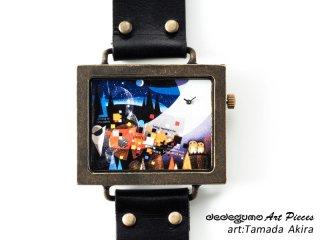時のやさしさ(玉田晃)dedegumoアートピースウォッチ 手作り腕時計/クオーツ時計